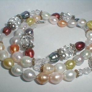 "Jewelry - Vintage Estate 24"" Freshwater Pearl Necklace"